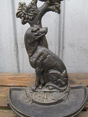 Heavy Cast Iron Umbrella Walking Stick Cane Stand Hunting Dog Hound B7960