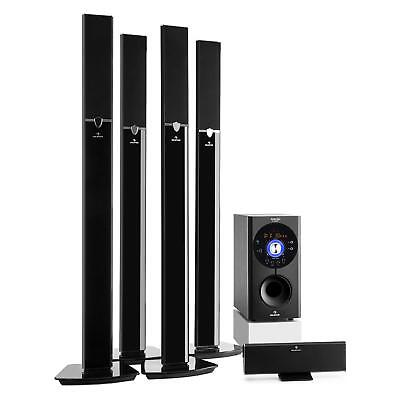 Home Cinema Enceinte Bluetooth 5.1 Subwoofer 5 Satellites Socles USB AUX SD 145W
