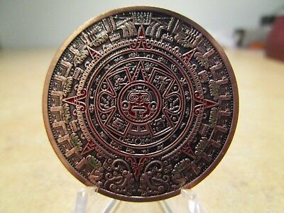 Colorized Aztec Calendar Novelty Coin