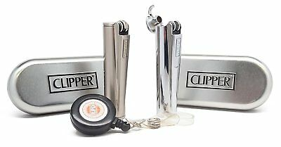 "Clipper Metal, Flip Top ""Gasoline"" Cigarette Lighter"