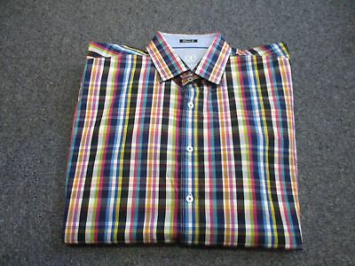 Very Nice Mens Bugatchi Uomo Classic Fit Button Up Shirt Size Xl