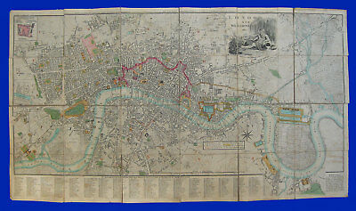 MAP of LONDON and WESTMINSTER 1802 published by John Fairburn