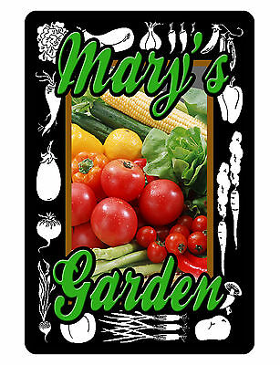 Personalized Garden Sign Printed with YOUR NAME DURABLE ALL WEATHER ALUMINUM 348