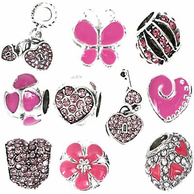 5 to 20 CHARMS BEADS For FITS Snake Chain Charm BRACELETS Necklaces Craft GIFTS