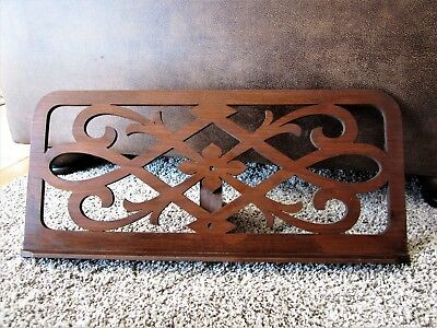 Ornate Fretwork Mahogany? Victorian Music Stand Desk Table Top Book Bible Holder