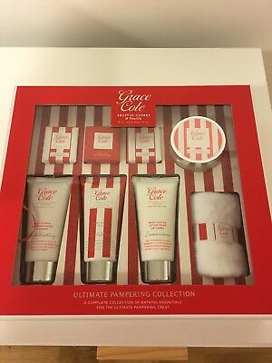 Grace cole frosted cherry & vanilla relaxing & nourishing gift set new