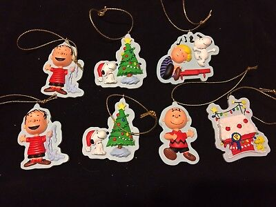 Hallmark Peanuts Ornaments Lot Of 7 Linus Snoopy Schroeder Charlie Brown