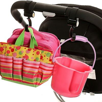 Stroller Hook - 2 Pack of Multi Purpose Hooks - Great Accessory for Mommy