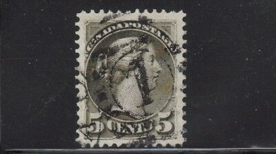 CANADA 1888 #42 QUEEN VICTORIA  -SMALL QUEEN 5 cent GREY USED