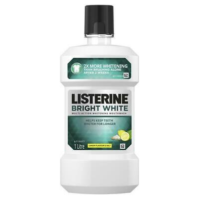 Listerine Bright White Mouthwash 1 Litre