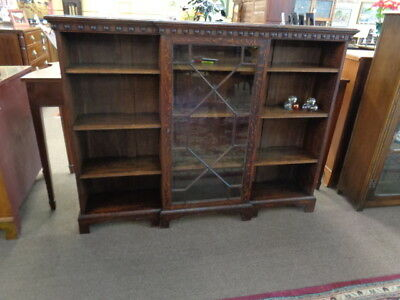 English Oak Triple Bookcase c.1920 Inv# 3118B