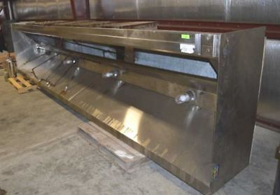 18' Stainless Commercial Vent Hood with Fire Suppression System