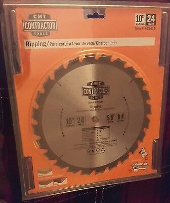 """CMT K02410 ITK Contractor Ripping Saw Blade, 10"""" 24 Teeth, 10° ATB 5/8""""bore"""