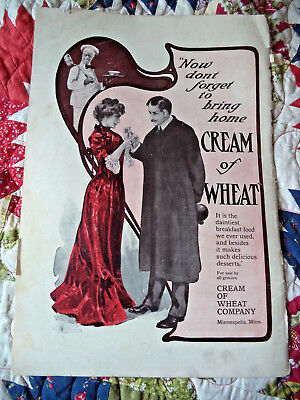2/1902 vintage cover ad cream of wheat from Womans Home Companion