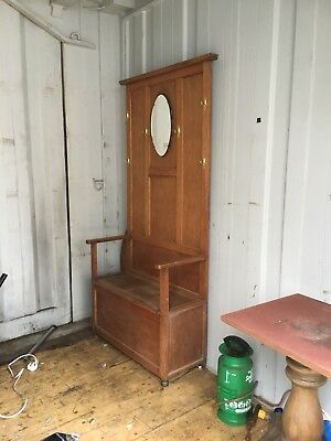 PINE SETTLE BENCH PEW COAT STAND With mirror open to offers