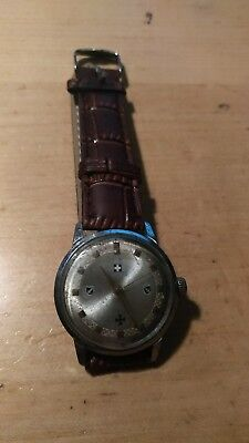 German WWII 13th Mountain Division Handschar wind up watch, working