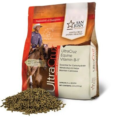 UltraCruz Horse Vitamin B-1 Supplement, 2.5 lb, pellets, (40 day supply)