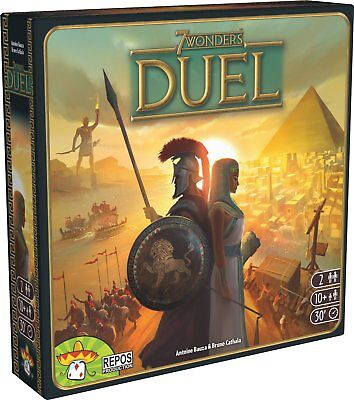 7 Wonders Duel Board Game By Asmodee - BRAND NEW - SHIPS FREE IN THE USA !