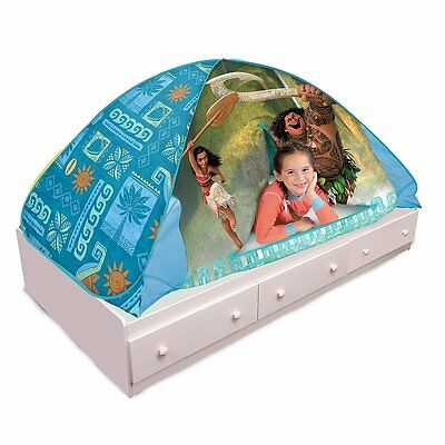 Play Hut Moana 2-in-1 Bed Tent Teal 72  x  sc 1 st  PicClick & PLAYHUT 2 in 1 Bed Tent Play Hut Pop up Tent Pink Minnie Mouse ...