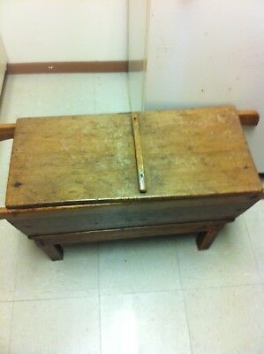 AntiqueWooden Dough Box with square nail,s