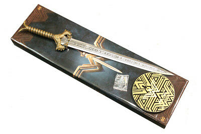 "JUSTICE LEAGUE Wonder Woman ""God Killer"" Replica Prop  metal Sword with plaque"
