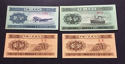 1953 Chinese Set Of Banknote  Zhongguo Renmin Yinghang 1 , 2 And 5 Fen