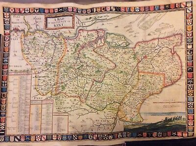 Map of County Kent - Vintage Reproduction of 1719 Sam Parker