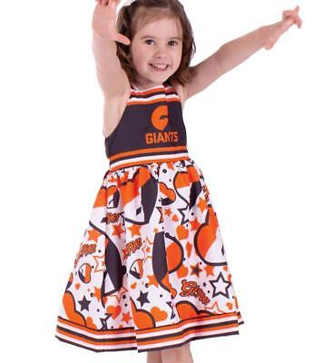 Greater Western Sydney Gws Giants Childs Girls Summer Stars And Stripes Dress