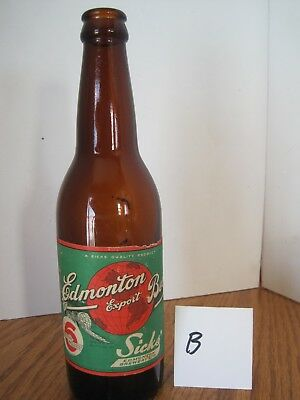 Sicks Lethbridge Edmonton Export Beer Bottle B