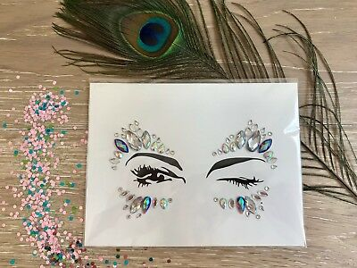 Festival & party, sticker face and body rhinestone gems & jewels.