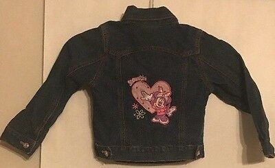 Authentic Disney Store Exclusive Denim Minnie Mouse Jacket Size XS (4/5)