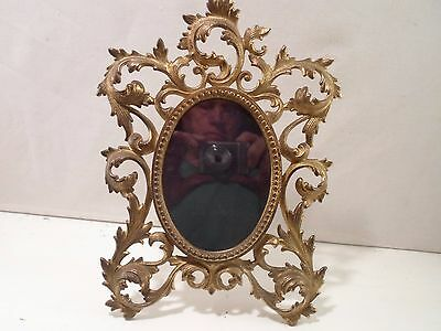 cast metal standing oval picture frame, 4 by 5.5 inches  # 1210