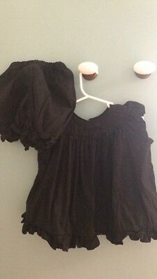 Girls Black Swing Top And Short Set 2T