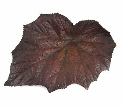 "Vintage/Antique Art Metal LEAF, Bronze or Brass w/ Heavy Patina - about 8"" x 5"""