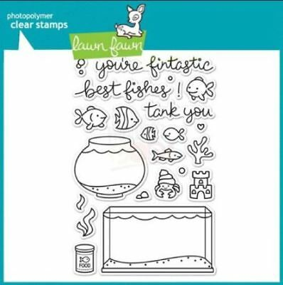 Lawn Fawn Stamps - Fintastic Friends - clear cling stamps