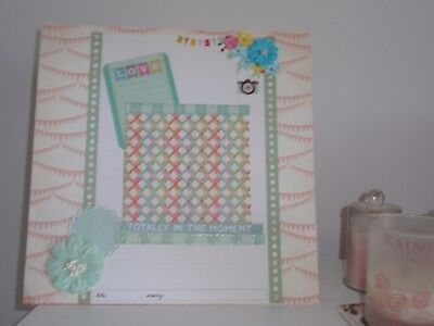 Handmade Scrapbook page - Totally in the Moment