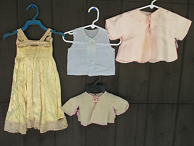 Vintage Childrens Nightgown Baby Sacque Tops Girl Embroidered Lot of 4 Doll