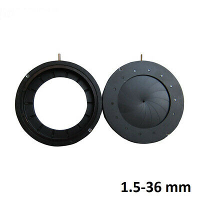 1.5-36mm Enlarged Diameter Zoom Optical Iris Diaphragm Aperture Condenser Optics