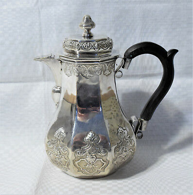 Early 18th century German silver coffee pot, Augsburg