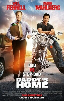 "DADDY'S HOME 1 & 2 2017 Original DS 2 Sided 27X40"" Movie Poster Mark Wahlberg"