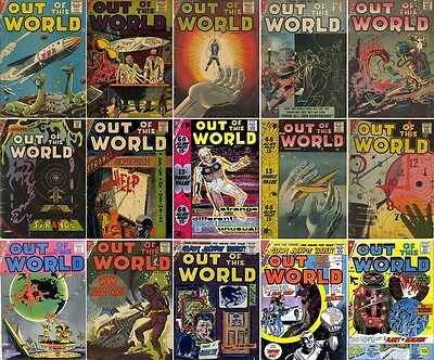 1956 - 1959 Out of This World Digital Comic Book Package - 16 eBooks on CD