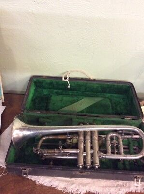 Wonder Model  Antique C.g. Conn Coronet With Case