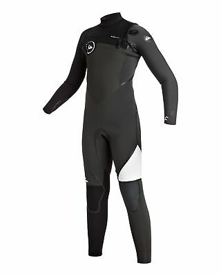 NEW QUIKSILVER™  Boys 8-16 Syncro+ 4/3MM LFS Chest Zip Steamer Wetsuit 2016 Boys