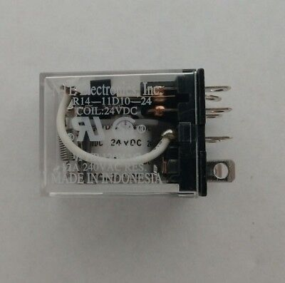 NEW NTE Electronics R14-11D10-24 POWER RELAY DPDT 24VDC COIL
