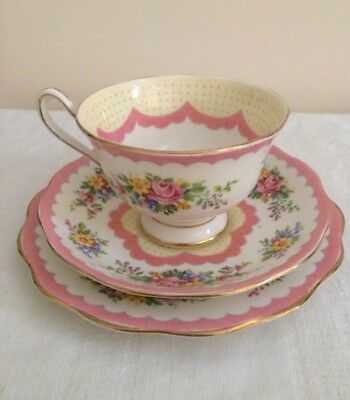 Lovely *Royal Albert* Pink 'Prudence' Trio, Made in England, Reg.No. 821113.