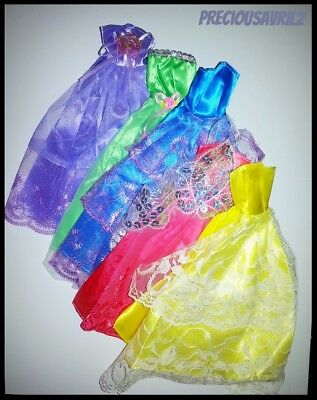 Barbie Doll Clothes SET OF FIVE Wedding/Party/Evening/Dress/Clothes/Outfit/NEW