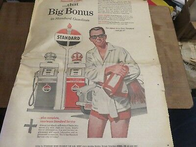 RARE Vintage 1958 Standard Oil Newspaper Ad