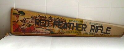 Vintage 1950s Red Feather cork rifle  Japan MIB  54 cm long