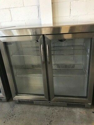 Stainless Steel 228L Dual Bar Fridge and stainless steel top.