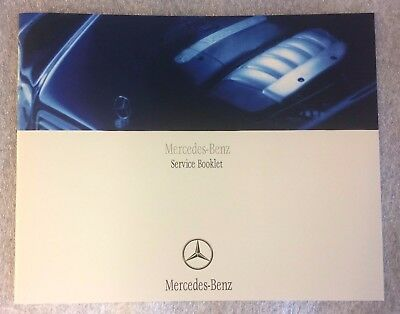 Mercedes Service Book Genuine Blank Not Duplicate  All Mercedes Cars And Vans <<
